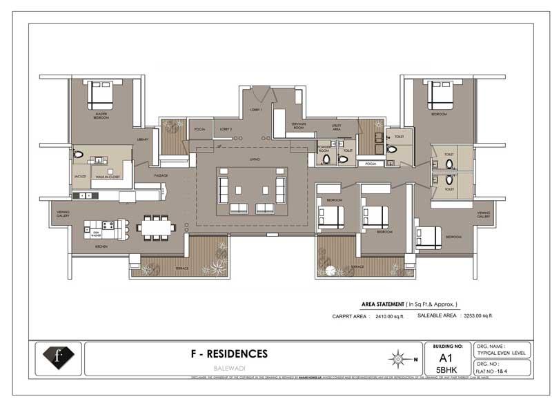 F Floor Plan: 5 bhk duplex floor plan